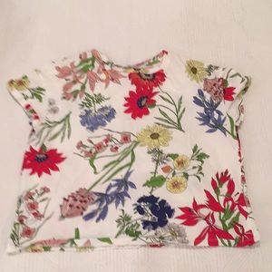Adorable ZARA Floral Print T-shirt-Tee-Size Small